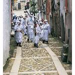 frammento di processione durante la caratteristica commemorazione del venerdì santo