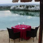 Table set up for a Romantic Dinner
