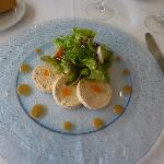 Ballotine de saumon et crabe