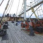 On the deck of the whaling ship