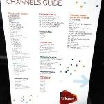 Guide to TV stations available