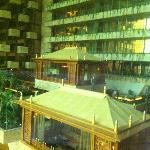 Vista del ristorante dall'ascensore panoramico