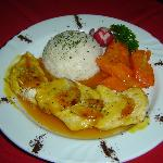 filet of chicken with passion fruit sauce