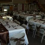 Inside Mellon's banquet hall