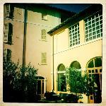 Inner hotel courtyard