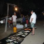 Chef buying fresh fish