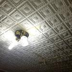 Ceiling which was held up by tape
