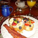 Fruity Lime French Toast with crispy bacon ...