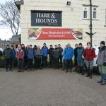 Lancashire Dotcom Walkers outside the Hare and Hounds