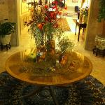 Floral display in lobby