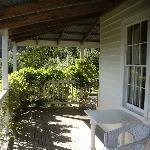 Guesthouse verandah outside the rooms