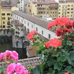 the Ponte Vecchio from the roof top patio