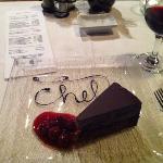wonderful chocolate cherry cake for dessert