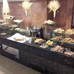 Buffet breakfast breads and pastries
