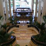 View from 1st floor down to 'Martini Bar' in hotel lobby
