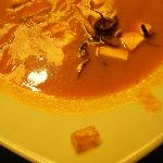 Foreign object in the tortilla soup