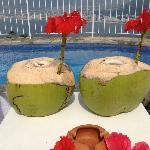 Fresh coconuts from the tree trimmer!
