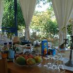 Breakfast overlooking the garden