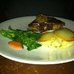 pork chop with olive tapenade