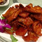 Pork chops with special sweet and sour sauce