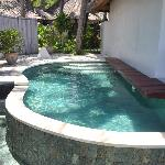 Private infinity pool for villa #9