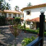 Outside a Villa
