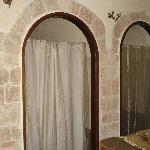 Arched bathroom and closet in the city wall