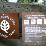 Signs with the trail rules