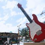 La famosa guitarra del HardRock Café