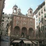 The piazza outside