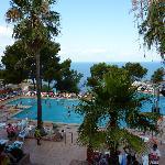 La piscine principale où se déroulent les activités