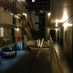 The hostel at night. Open air halls, how cool is that?!