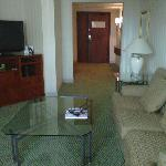 Zona de salón en suite