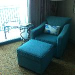 Arm chair in room