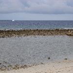 Strand vor unserer Strandvilla bei Ebbe