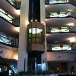 Lobby elevator.
