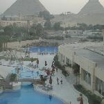 View from my room overlooking pool