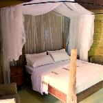 Bed in our Luxury Lodges