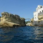 isolotto della Gaiola (resti non sommersi) vista dal mare