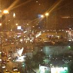 A view of Taksim Square from upperfloor restaurant