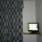 TV and drapes