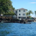 Ian Fleming's house on Goat Island by the reef