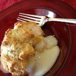 Toffee scones, warm peaches, and vanilla cream make 'breakfast shortcake'