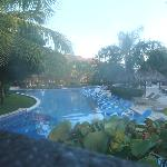 Pool area, early morning