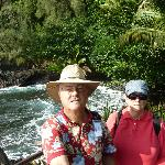 Ocean overlook at small bay, Hilo side of the gardens!