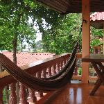 Hammock on the patio of our bungalow