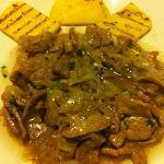fegato alla veneziana con polenta