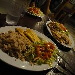 Vegetarian Plate & Main Chicken Dish in b'ground