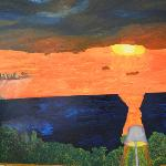 LATE SUMMER SUNSET OVER THE BAY OF BANDERAS, oil-on-canvas 180cm. x 220cm.