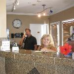 Don and Tina Owners at the Reception Desk
